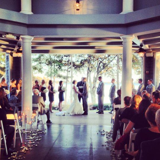 Wedding party indoors