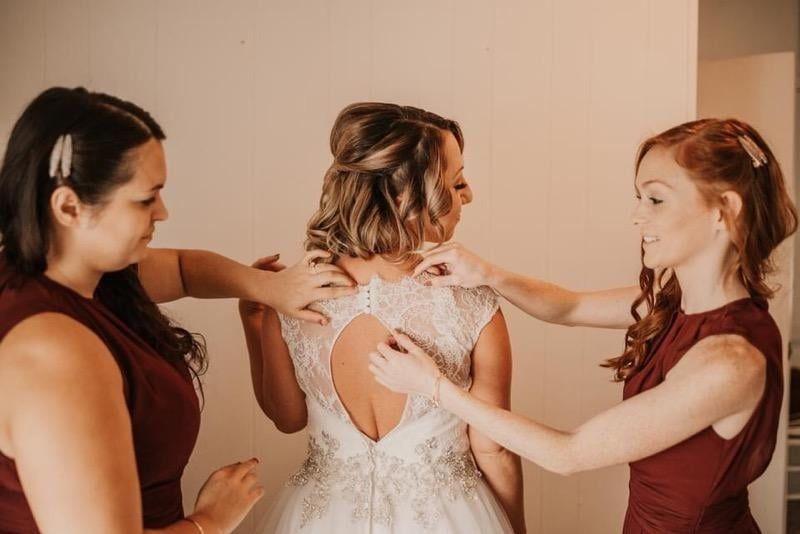 Marissa and her bridesmaids
