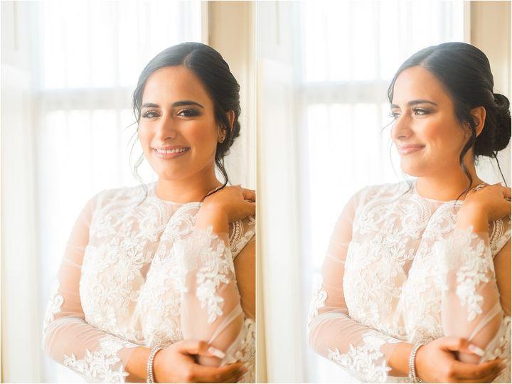 Neutral bridal makeup