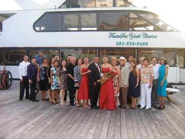 Wedding on a yacht.