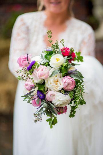 A stunning bridal bouquet