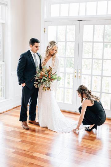 Assisting Bride on Wedding Day