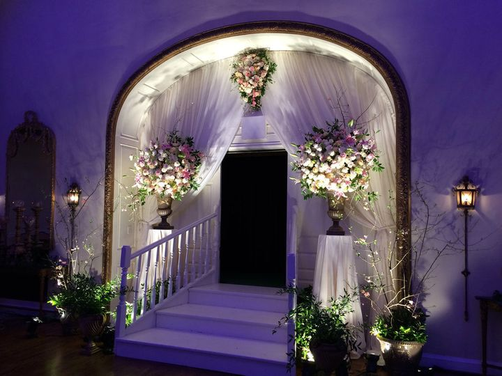 Entrance with floral anrrangement