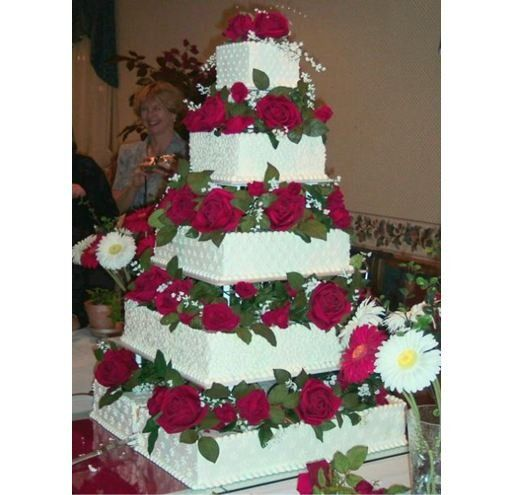 Gabrielle Chocolates Square Five tier Wedding cake