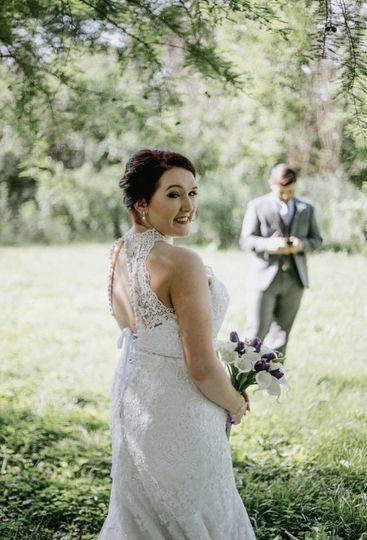 Back details of bridal dress