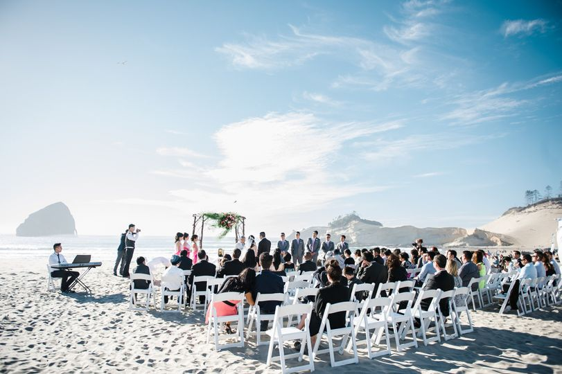 Summer Wedding Ceremony.  Photo by Imago Dei Photography
