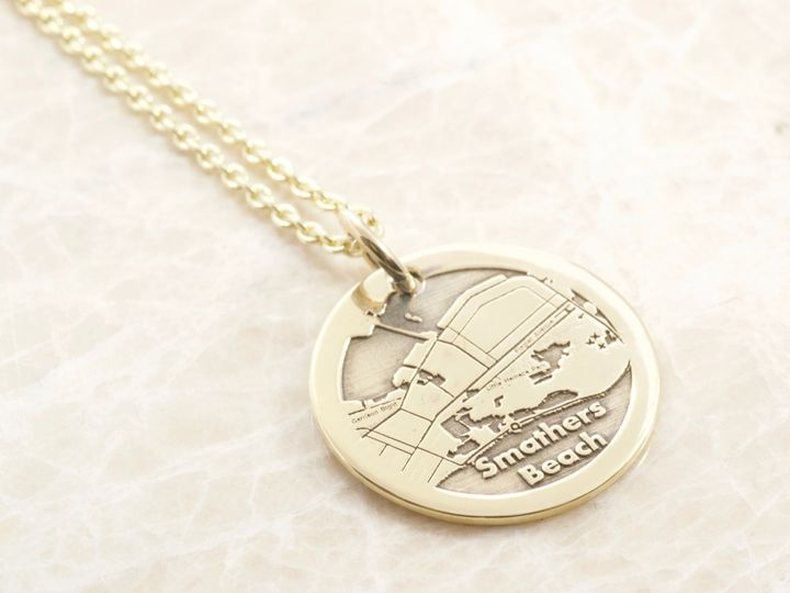 Map necklace by Brent&Jess