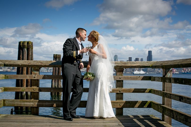 Newlyweds on the boardwalk