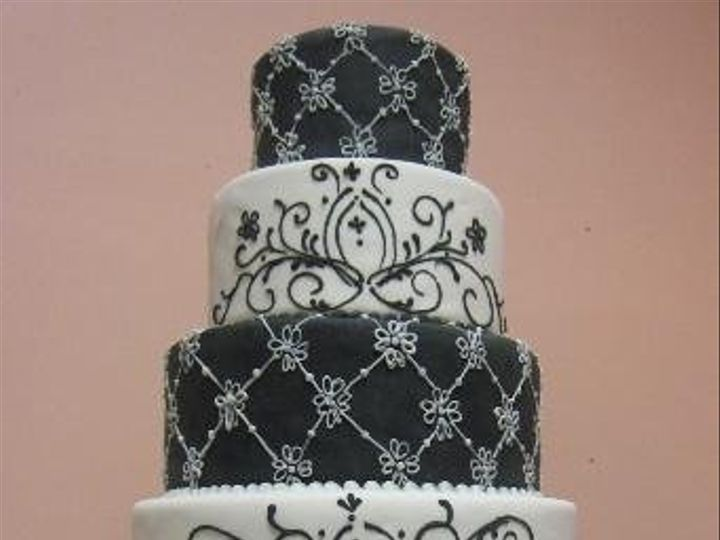Tmx 1244213049359 Blackandwhite Danvers, MA wedding cake