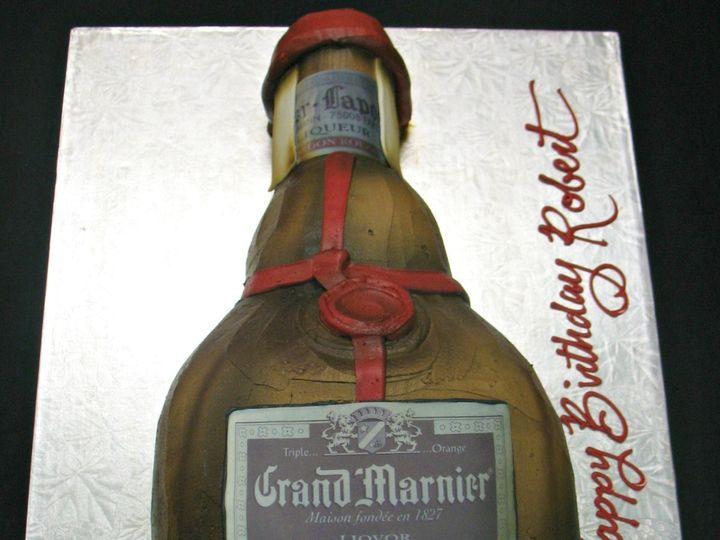 Tmx 1358808852741 GrandMarnierbottlecakeasterisk Danvers, MA wedding cake