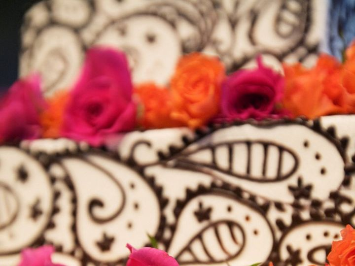 Tmx 1358809432334 ChocolatePaisleycloseup Danvers, MA wedding cake