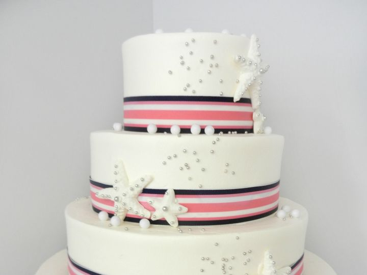 Tmx 1381855294797 Nautical Stripes Danvers, MA wedding cake
