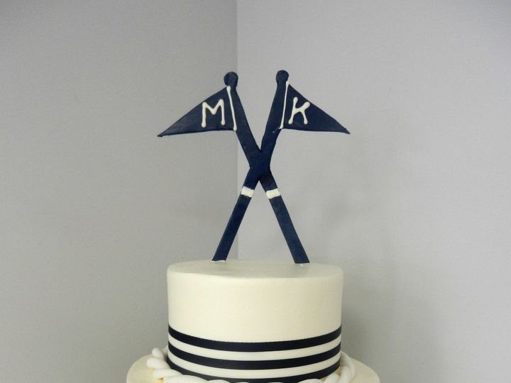 Tmx 1381855305883 Nautical With Rope And Flag Danvers, MA wedding cake