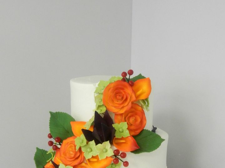 Tmx 1478710982335 Fall Flowers And Ruffles Danvers, MA wedding cake