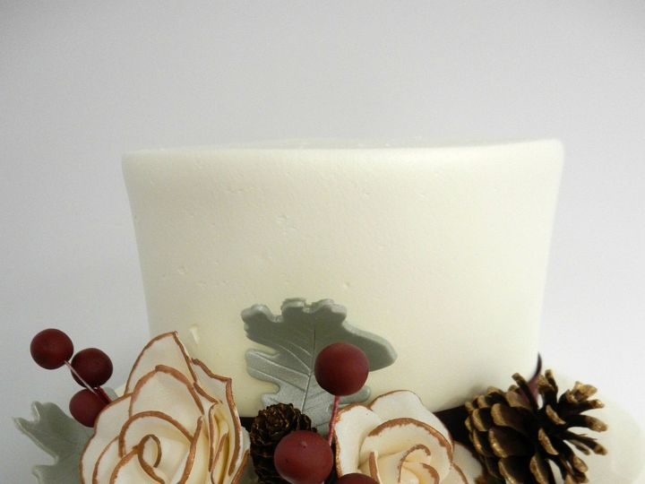 Tmx 1478711014198 Fondant Winter Flowers Danvers wedding cake