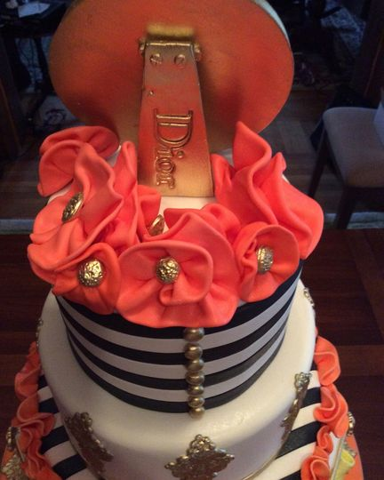Pink top cake
