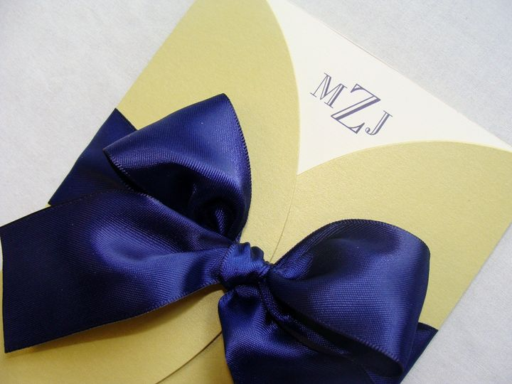 800x800 1366149907007 custom wedding invitation with satin ribbon bow and jacket at invitation galleria