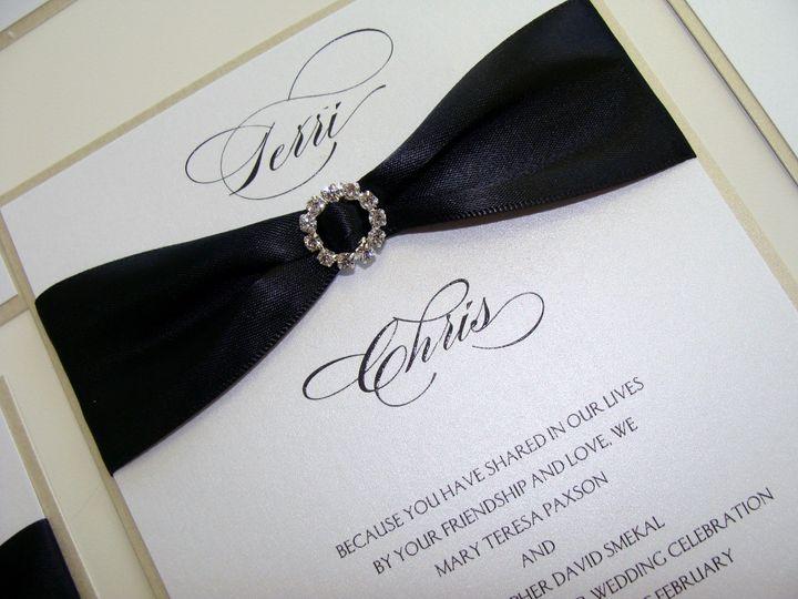 Invitation galleria invitations tampa fl weddingwire invitation galleria 800x800 1392832651652 shimmer invitation with buckle at invitation galle stopboris Gallery
