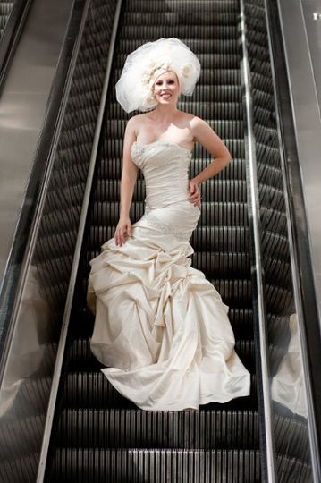 Classy white wedding dress