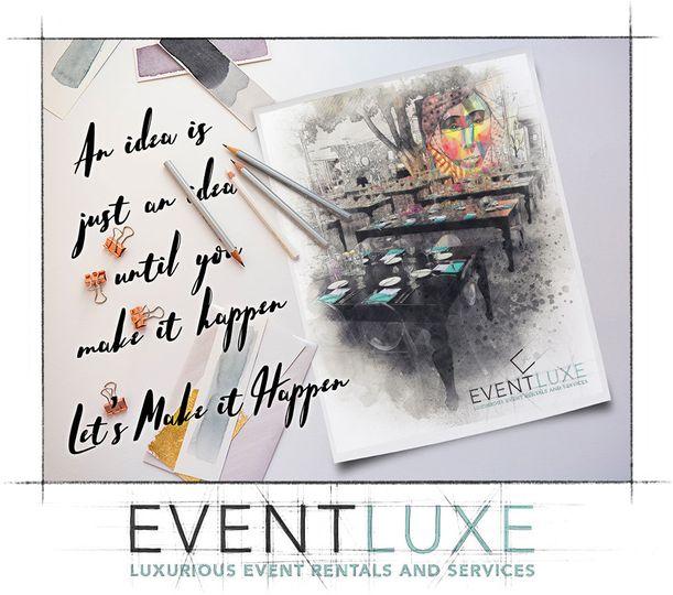 EVENTLUXE  We design, engineer, fabricate, creative branding, graphic design and rent