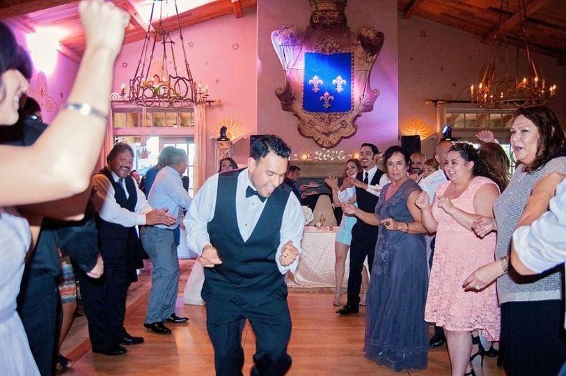 The man dancing