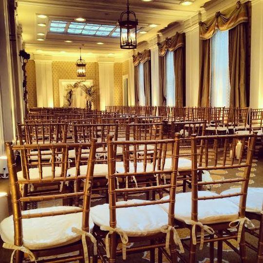 Elegant wedding event space