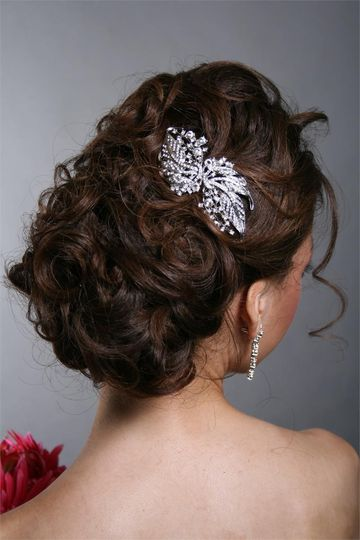 Elegant updo with hair accessory