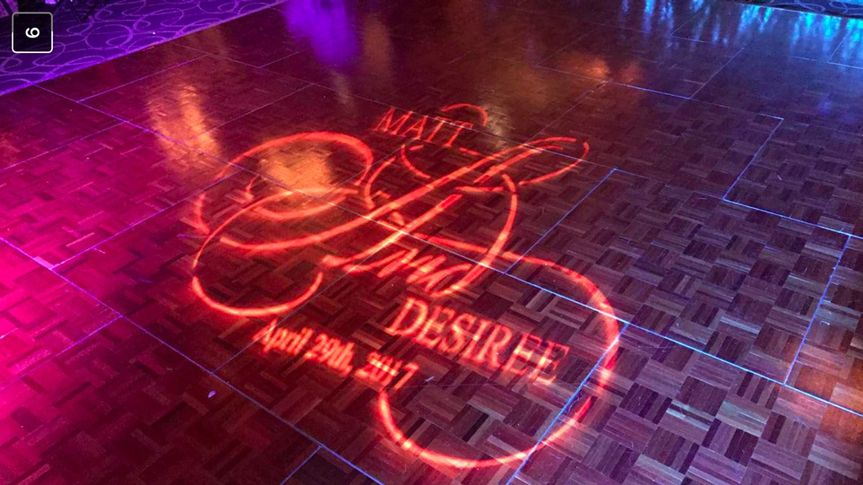 Wedding Gobo on a Dance Floor