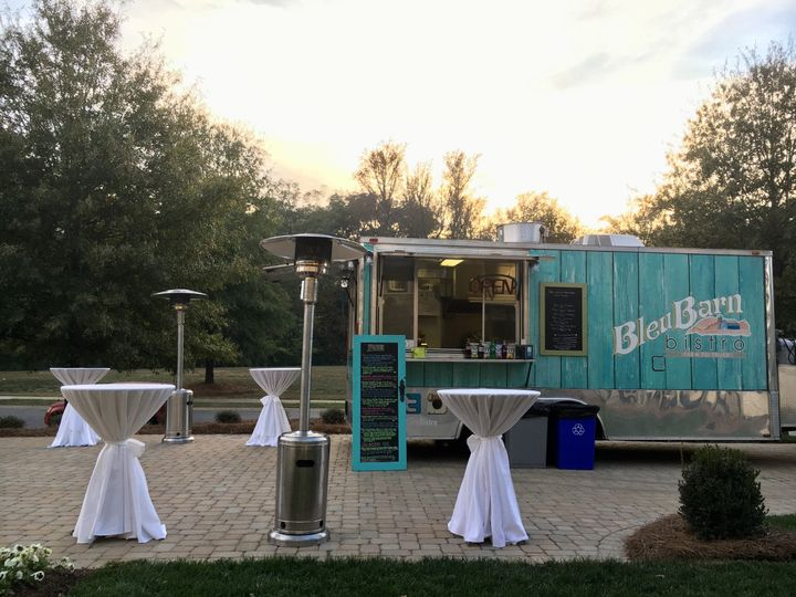 Cocktail and food truck setup