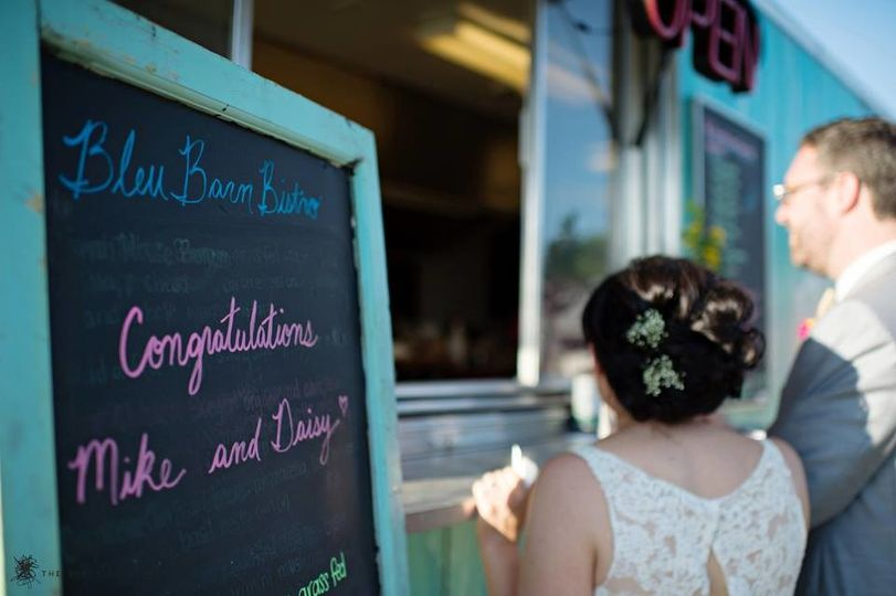 Food truck signboard