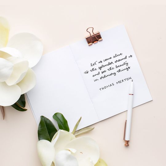 Hand Lettered Quote
