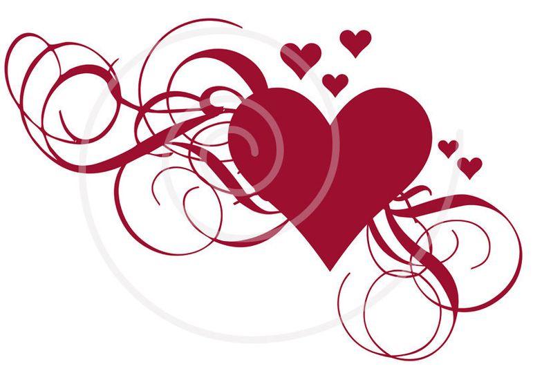 wedding heart clipart1
