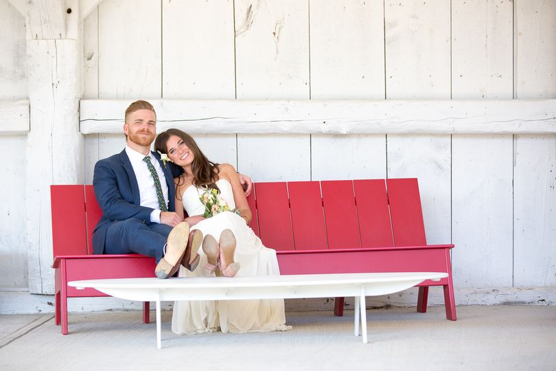 I saw this bench and table at Shelburne Museum and knew that I had to get a portrait of Jon & Megan...