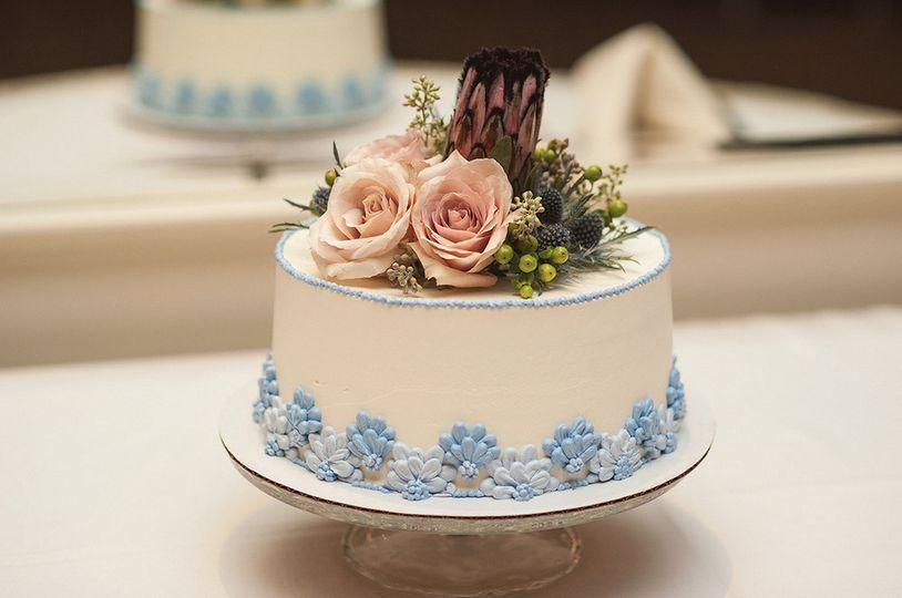 lavender floral cake 2