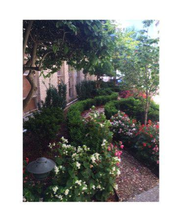 Outdoor Prayer Garden great for wedding couple photos!