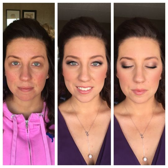 The makeup transformation