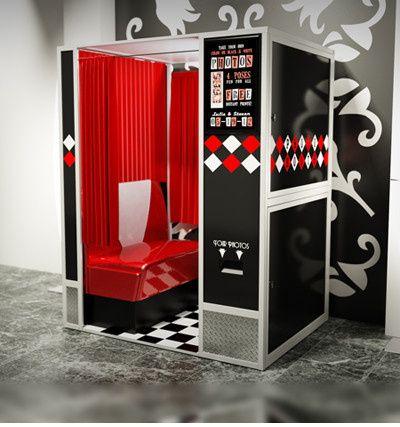 retro booth black