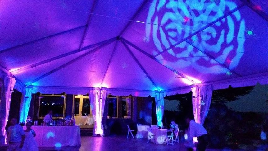 Showcasing some amazing Up-Lighting for a Tent Wedding we did this year