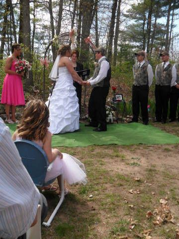 Backyard wedding up north near Ludington