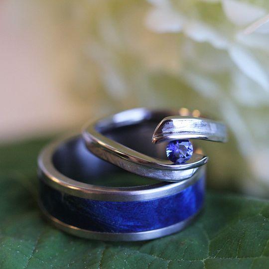 Lapis lazuli wedding band
