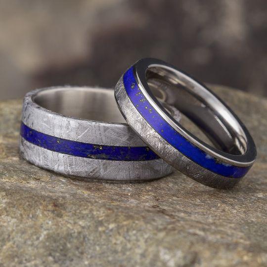 Meteorite and Lapis Lazuli