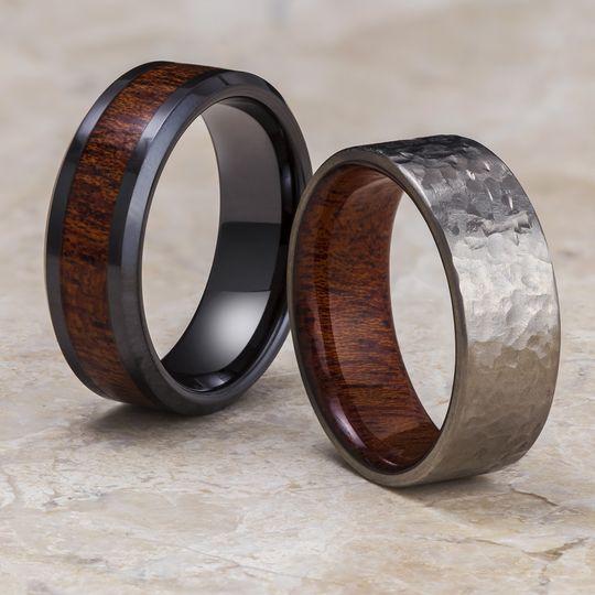 Mahogany Wood Rings
