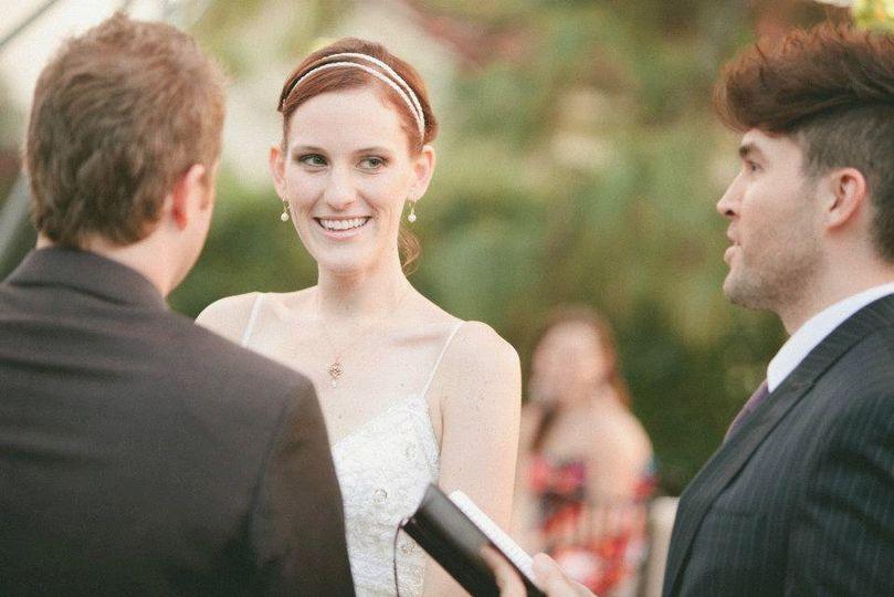 Brooke + Brad's Backyard Cinema Wedding. Photo by Courtney Lindberg Photography.