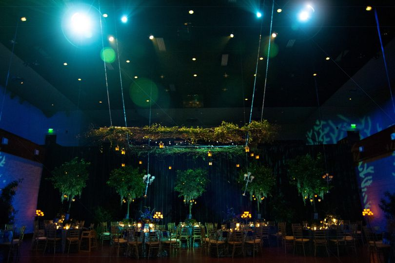 Ashley + Ben's Enchanted Forest Wedding Reception. Photo by Barca Designs.