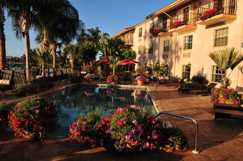 HOTEL POOL AREA AVAILABLE FOR CEREMONIES, RECEPTIONS, AND SPECIAL EVENTS