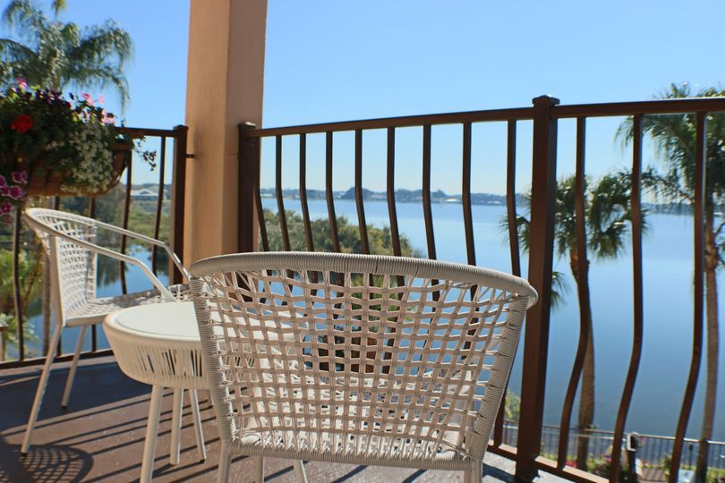 Balcony Lake View: Bougainvillea Suites Fall in love with these rooms. A perfect Honeymoon Suite or...