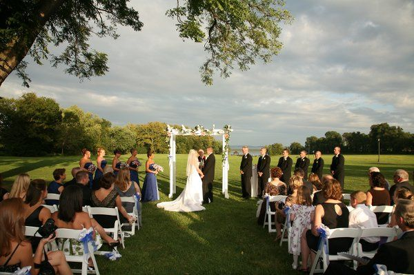 Evening ceremony on the lawn. Photo by Visual Image Photography