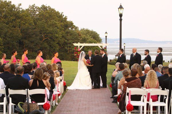 Ceremony along the walkway to the water.  Photo by Bill Rettberg.