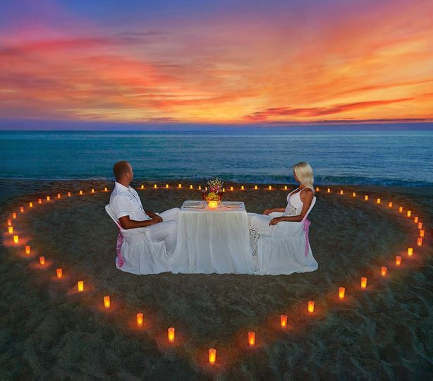 anniversary romantic dinner on the beach 51 801266