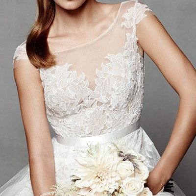 """""""Farrah"""" bridal gown from Watters."""